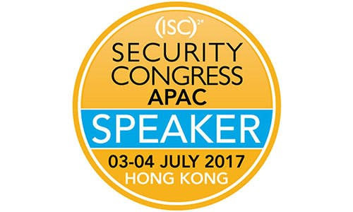 ISC2 Security Congress APAC 2017 in Hong Kong